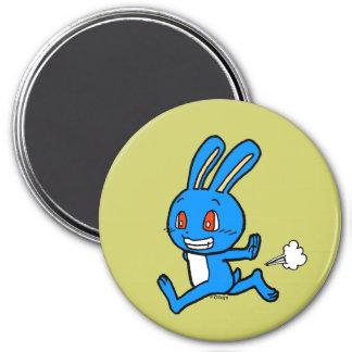 Funcionamiento azul lindo del conejo imanes