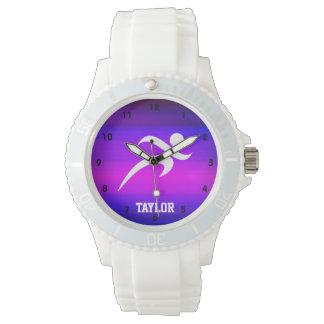 Funcionamiento; Azul violeta y magenta vibrantes Relojes De Pulsera