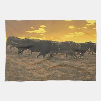 Funcionamiento con la toalla de cocina de Bull de