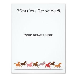 Funcionamiento de los caballos salvajes invitación 10,8 x 13,9 cm