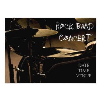 Funcionamiento del concierto de la banda de rock invitación 12,7 x 17,8 cm