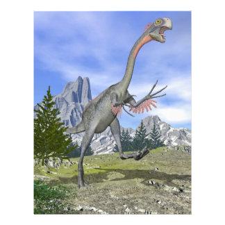 Funcionamiento del dinosaurio de Gigantoraptor - Folleto 21,6 X 28 Cm
