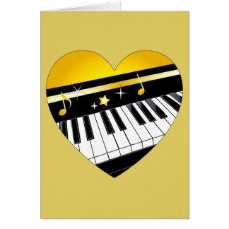 Funcionamiento del piano de la enhorabuena con el  felicitación