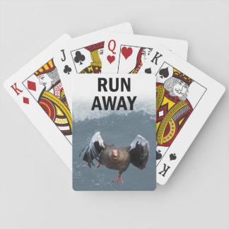 Funcionamiento lejos baraja de cartas