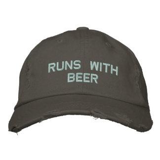 ¡Funcionamientos con la cerveza! Gorra de Gorras De Béisbol Bordadas