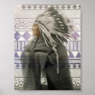 Funcionamientos del nativo americano con los niños póster