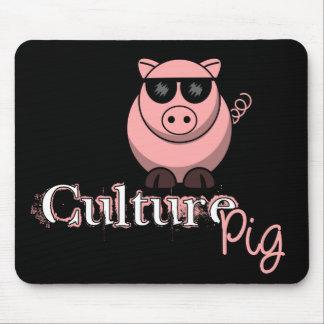 Funcionario del cerdo de la cultura tapetes de ratón