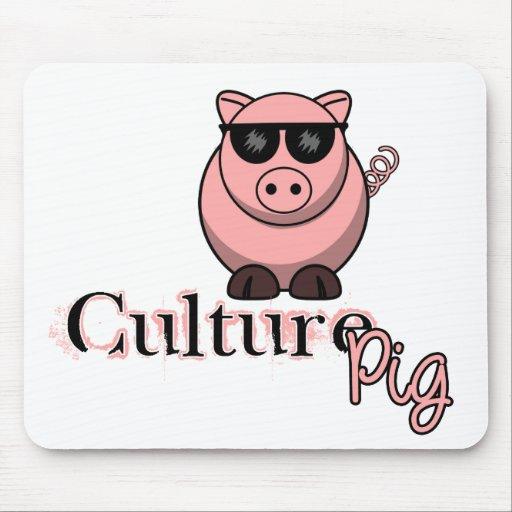 Funcionario del cerdo de la cultura alfombrilla de ratones