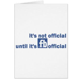 funcionario del fb tarjeta de felicitación