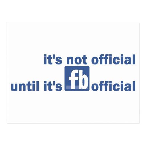funcionario del fb tarjetas postales
