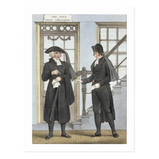 Funcionarios fúnebres de Amsterdam, ejemplo de Tarjetas Postales