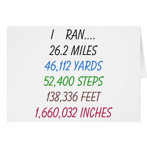 Funcioné con 26,2 millas tarjetas