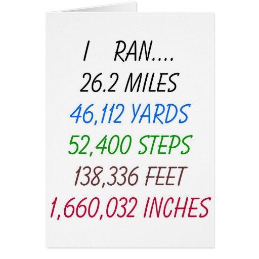 Funcioné con 26,2 millas felicitación