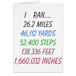 Funcioné con 26,2 millas tarjeta de felicitación