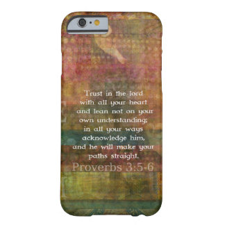 Funda Barely There iPhone 6 3:5 de los proverbios - cita de 6 biblias sobre