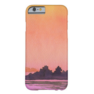 Funda Barely There iPhone 6 Acuarela del paisaje de la serenidad