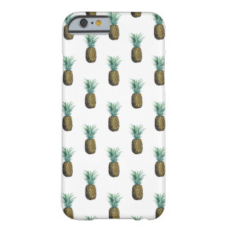 Funda Barely There iPhone 6 Acuarela tropical de la piña