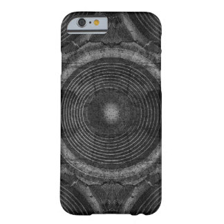 Funda Barely There iPhone 6 Altavoces blancos y negros de la música