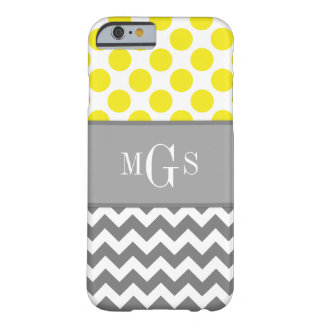 Funda Barely There iPhone 6 Amarillo y gris, Chevron, caso del iPhone 6 de los