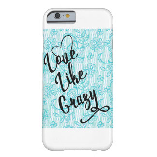 Funda Barely There iPhone 6 Ame como la caja azul loca del iPhone 6/6s del