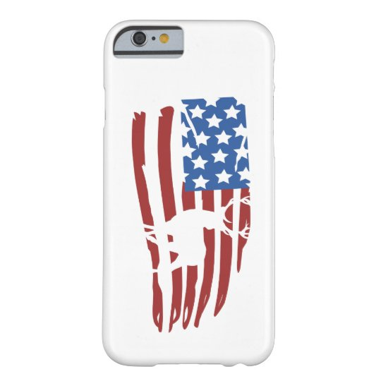 Funda Barely There iPhone 6 american flag deer hunting