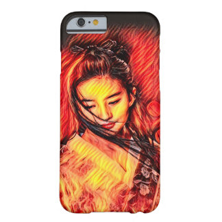 Funda Barely There iPhone 6 Arte japonés del aerógrafo del chica del alcohol