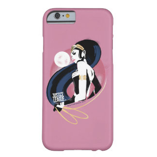 Funda Barely There iPhone 6 Arte pop del perfil de la Mujer Maravilla de la