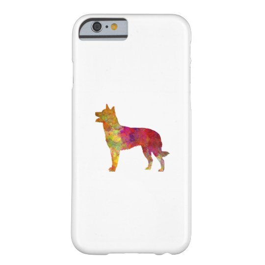 Funda Barely There iPhone 6 Australian Kelpie in watercolor