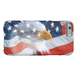 Funda Barely There iPhone 6 Bandera americana calva patriótica de Eagle
