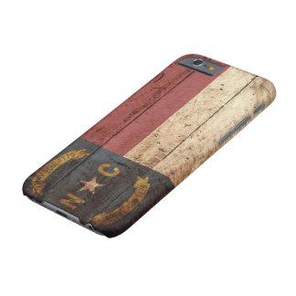Funda Barely There iPhone 6 Bandera del estado de Carolina del Norte en grano