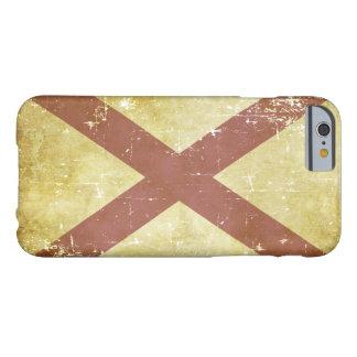 Funda Barely There iPhone 6 Bandera patriótica gastada del estado de Alabama