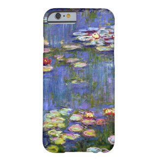 Funda Barely There iPhone 6 Bella arte de la charca del lirio de agua de Monet