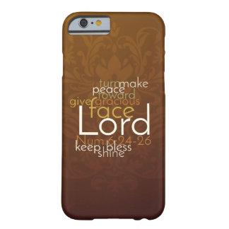 Funda Barely There iPhone 6 Bendición sacerdotal en el damasco de cobre de