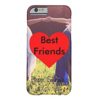 Funda Barely There iPhone 6 Best Friends corazón fondo