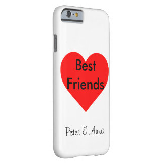 Funda Barely There iPhone 6 Best Friends corazón Personalisierbar