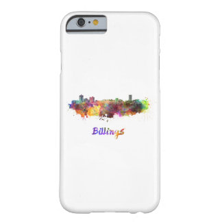 Funda Barely There iPhone 6 Billings skyline in watercolor