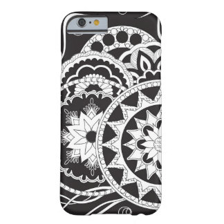 Funda Barely There iPhone 6 Black&white zen pattern with mandalas