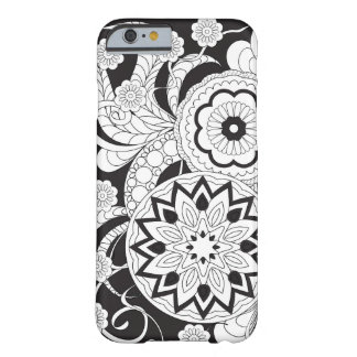 Funda Barely There iPhone 6 Black&white zen pattern with mandalas and flowers