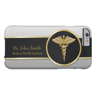 Funda Barely There iPhone 6 Caduceo médico profesional del oro - caso del