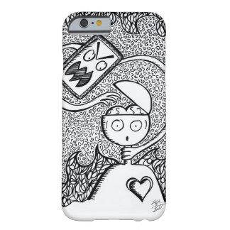 Funda Barely There iPhone 6 Caja a mano del teléfono de la tinta blanca negra