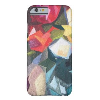 Funda Barely There iPhone 6 Caja abstracta floral brillante del teléfono
