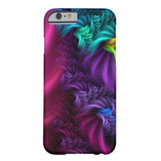 Funda Barely There iPhone 6 Caja abstracta púrpura del arte del fractal