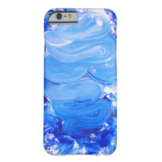 Funda Barely There iPhone 6 Caja azul del iPhone del movimiento del cepillo