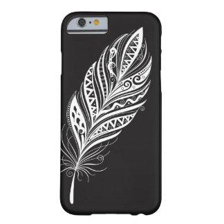 Funda Barely There iPhone 6 Caja blanco y negro del teléfono celular de la