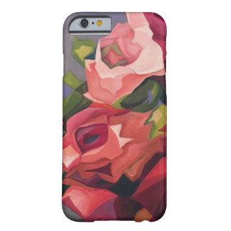 Funda Barely There iPhone 6 Caja color de rosa abstracta del teléfono