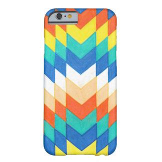 Funda Barely There iPhone 6 Caja colorida geométrica del teléfono