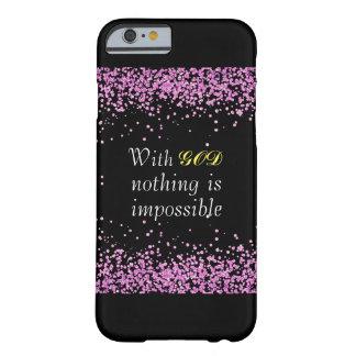 Funda Barely There iPhone 6 Caja cristiana del teléfono del brillo rosado
