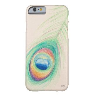 Funda Barely There iPhone 6 Caja del teléfono celular de la pluma del pavo
