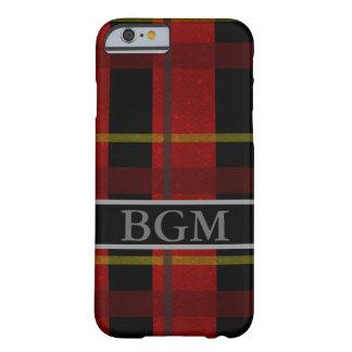 Funda Barely There iPhone 6 Caja del teléfono de la franela con el monograma