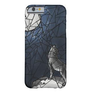 Funda Barely There iPhone 6 Caja del teléfono del vitral del lobo del grito